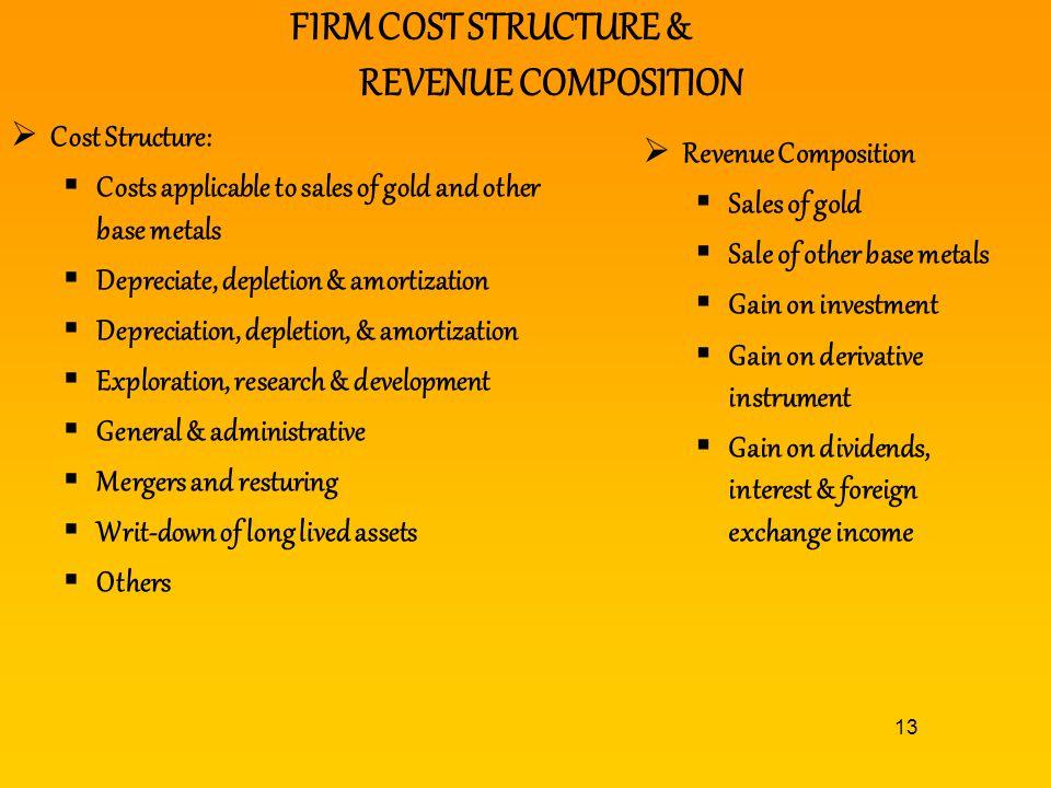 FIRM COST STRUCTURE & REVENUE COMPOSITION