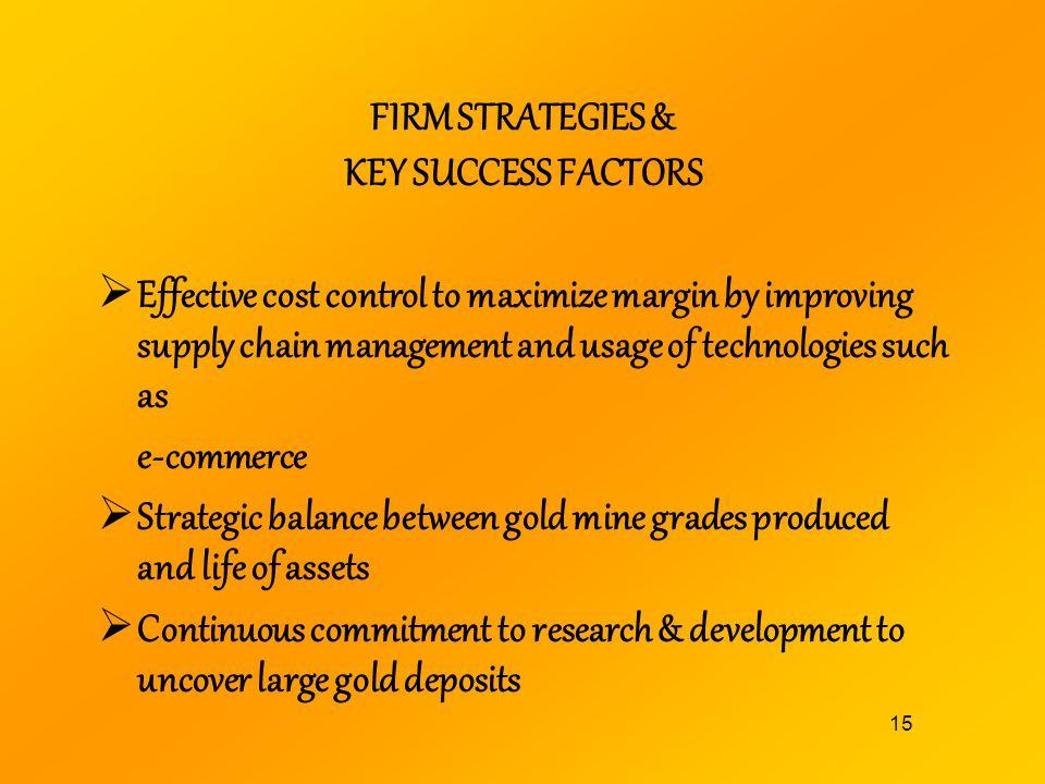 FIRM STRATEGIES & KEY SUCCESS FACTORS