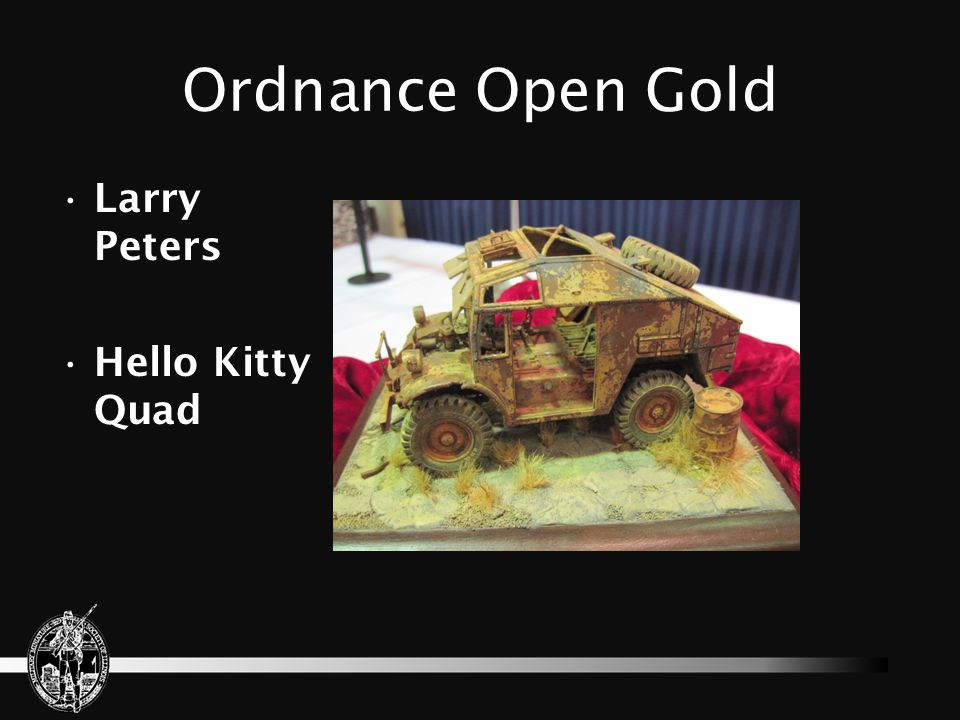 Ordnance Open Gold Larry Peters Hello Kitty Quad