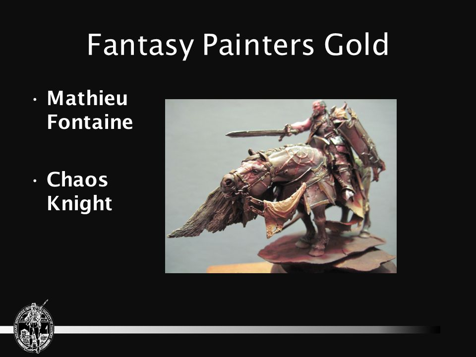 Fantasy Painters Gold Mathieu Fontaine Chaos Knight