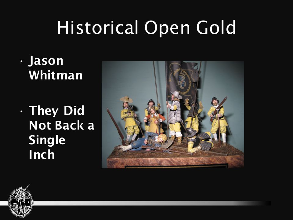 Historical Open Gold Jason Whitman They Did Not Back a Single Inch