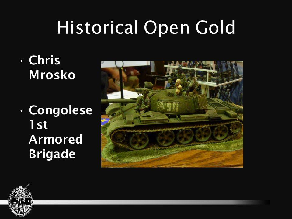 Historical Open Gold Chris Mrosko Congolese 1st Armored Brigade