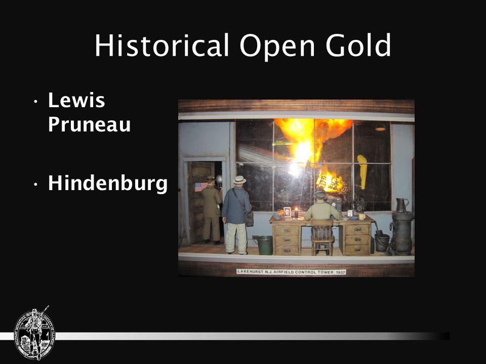 Historical Open Gold Lewis Pruneau Hindenburg
