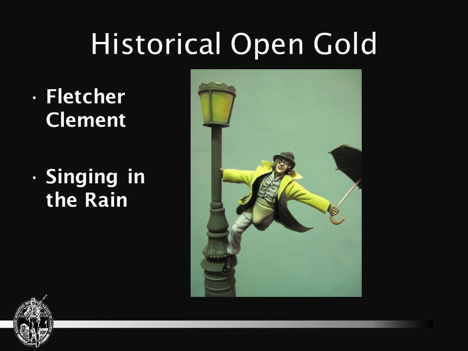 Historical Open Gold Fletcher Clement Singing in the Rain