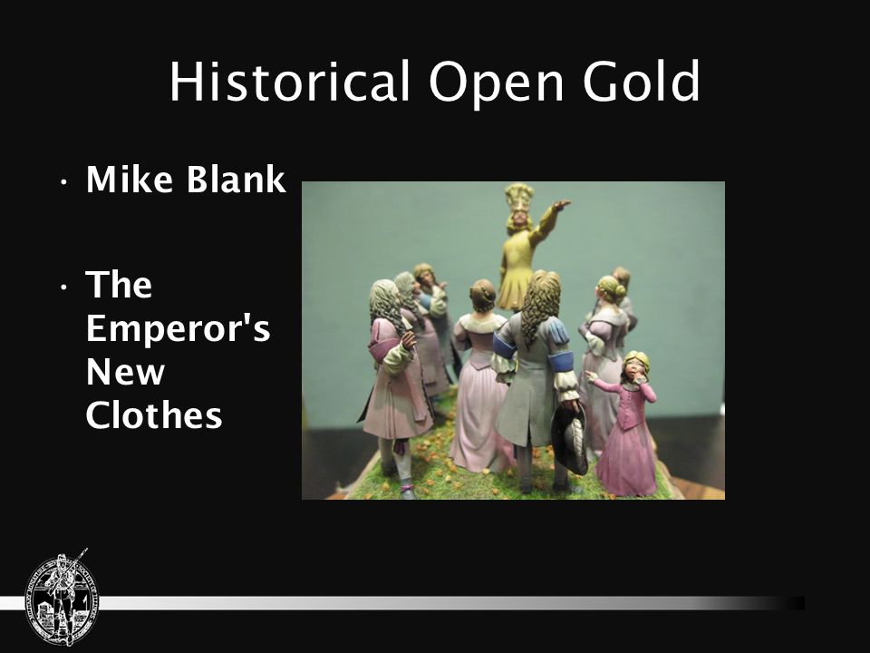 Historical Open Gold Mike Blank The Emperor s New Clothes