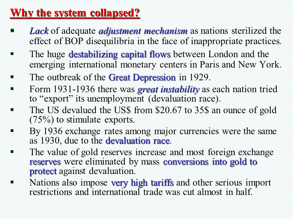 Why the system collapsed