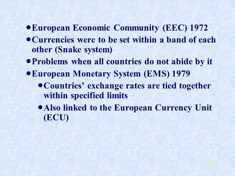 European Economic Community (EEC) 1972