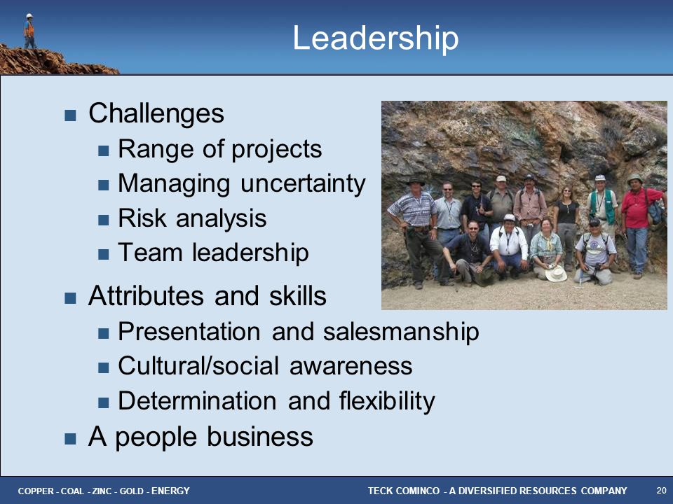 Leadership Challenges Attributes and skills A people business