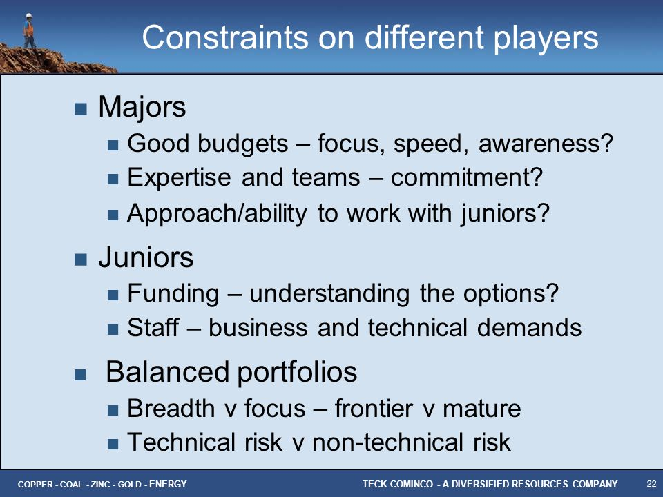 Constraints on different players