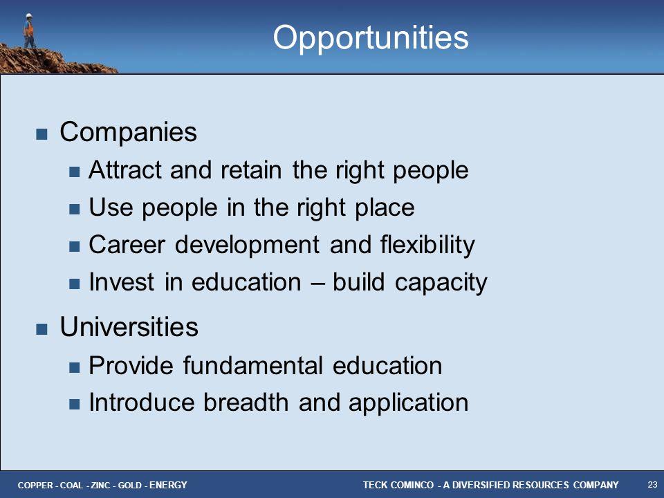 Opportunities Companies Universities