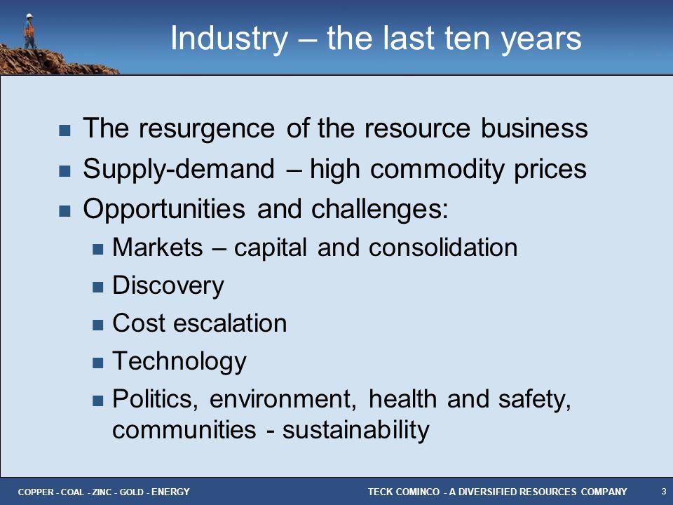 Industry – the last ten years