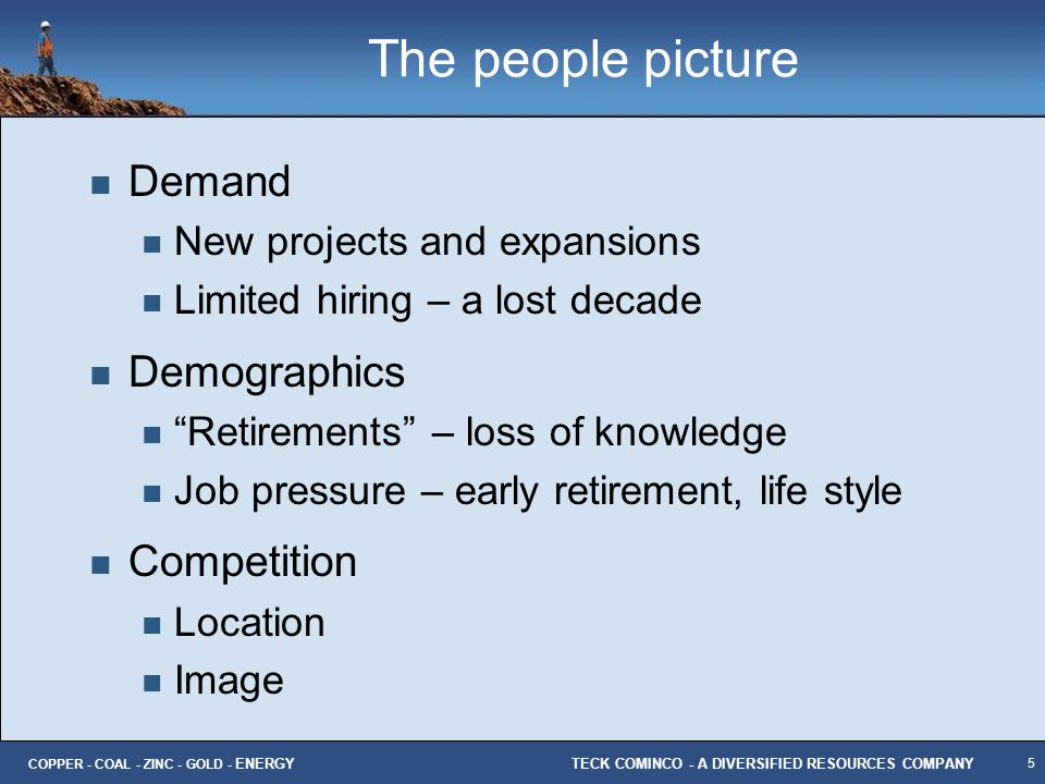 The people picture Demand Demographics Competition
