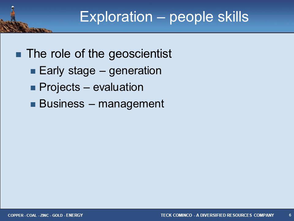 Exploration – people skills