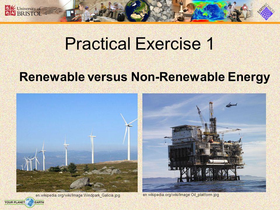 Practical Exercise 1 Renewable versus Non-Renewable Energy