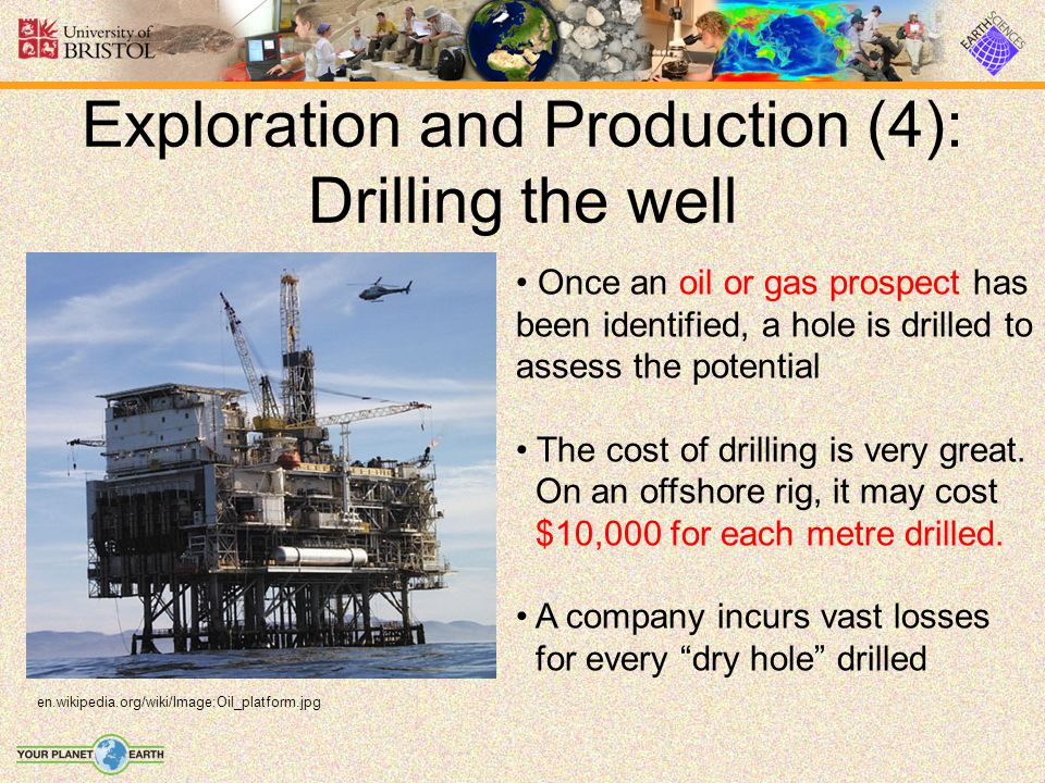 Exploration and Production (4): Drilling the well