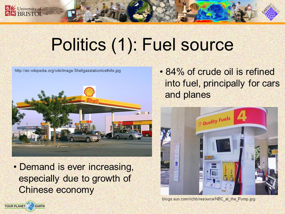 Politics (1): Fuel source