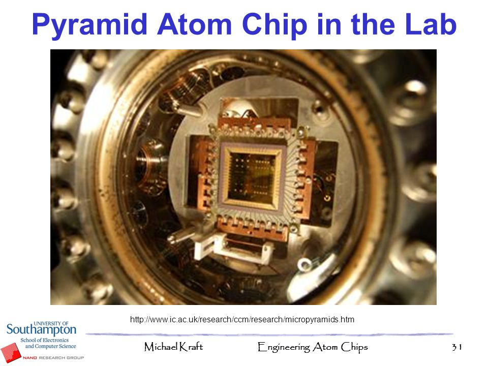 Pyramid Atom Chip in the Lab