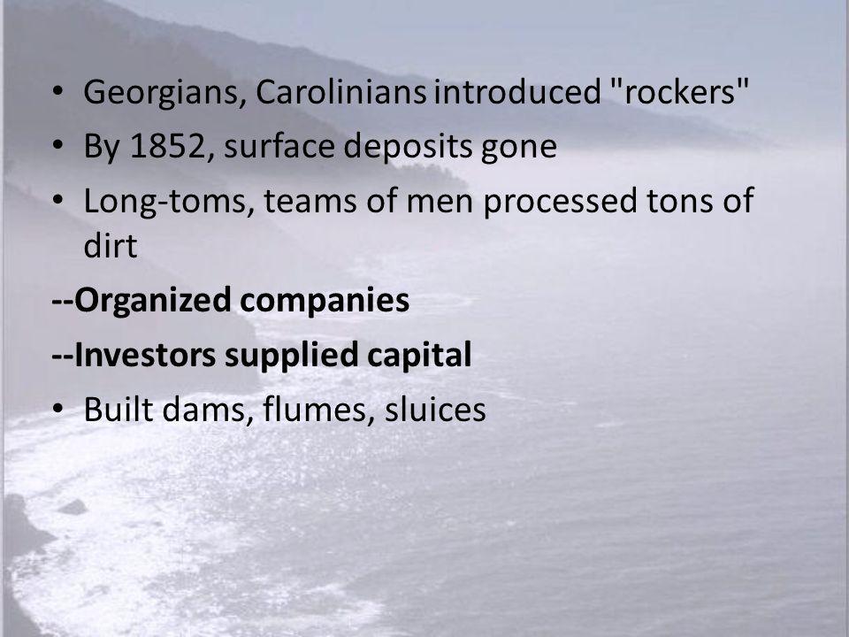 Georgians, Carolinians introduced rockers