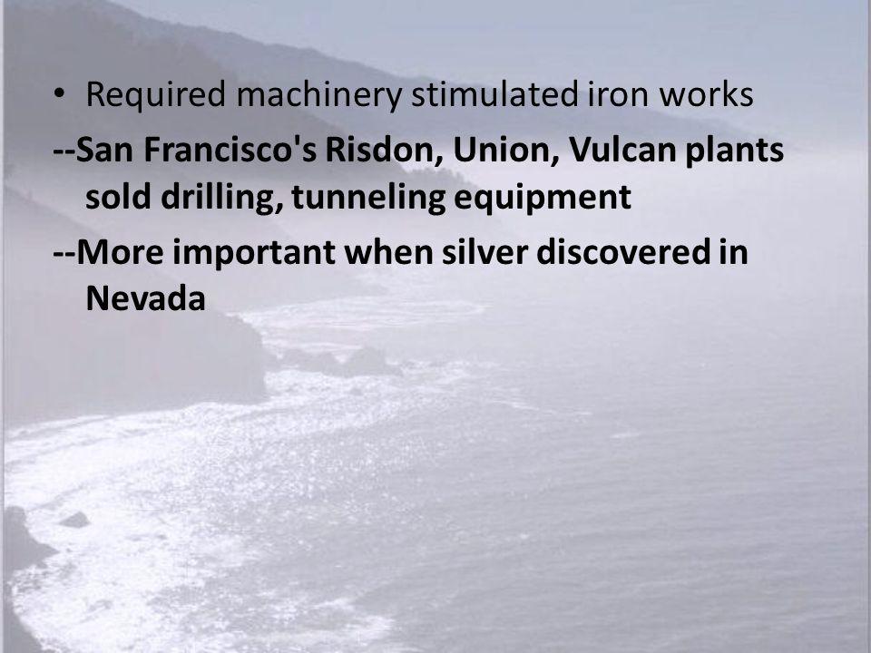 Required machinery stimulated iron works