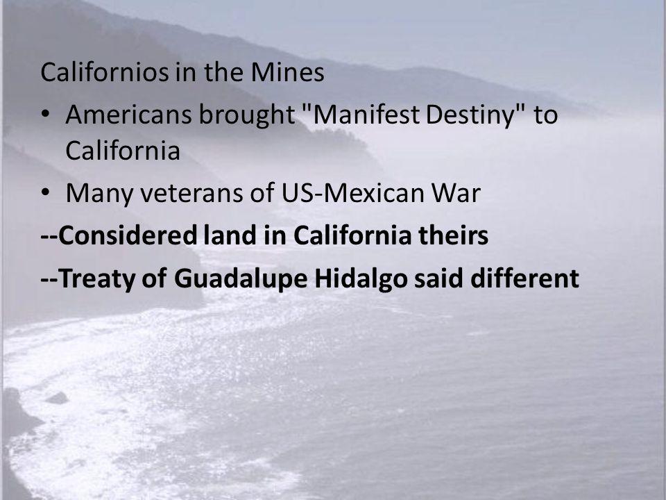 Californios in the Mines