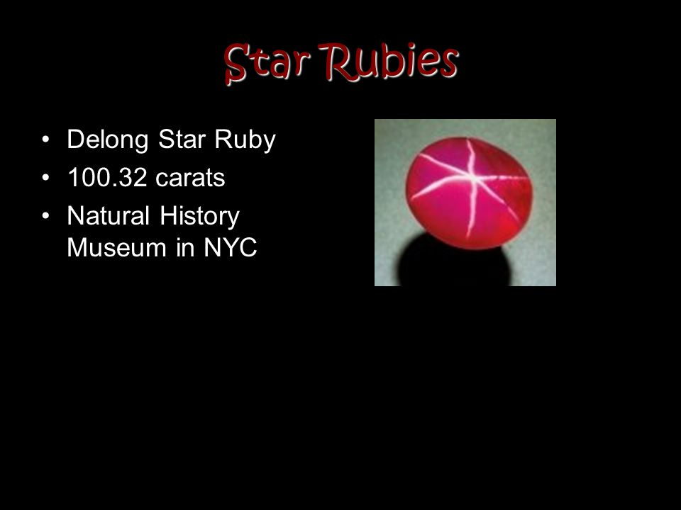 Star Rubies Delong Star Ruby 100.32 carats