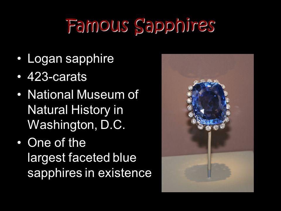 Famous Sapphires Logan sapphire 423-carats