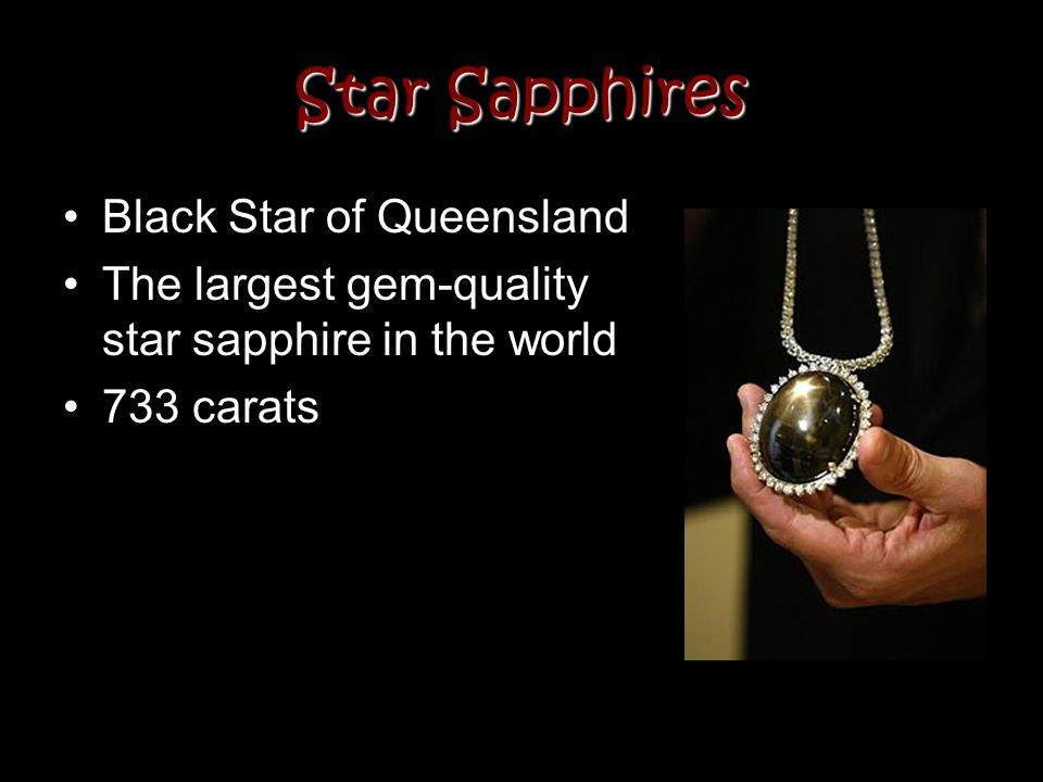 Star Sapphires Black Star of Queensland