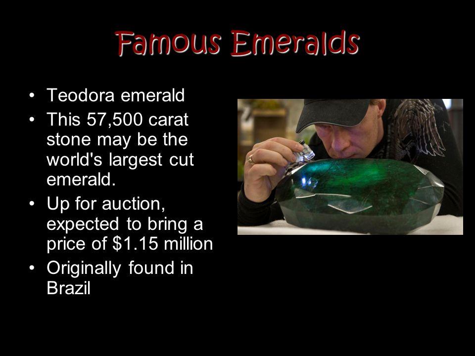 Famous Emeralds Teodora emerald