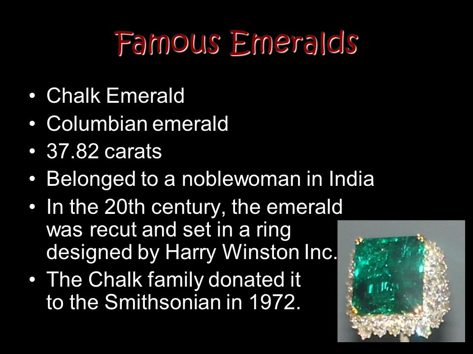 Famous Emeralds Chalk Emerald Columbian emerald 37.82 carats
