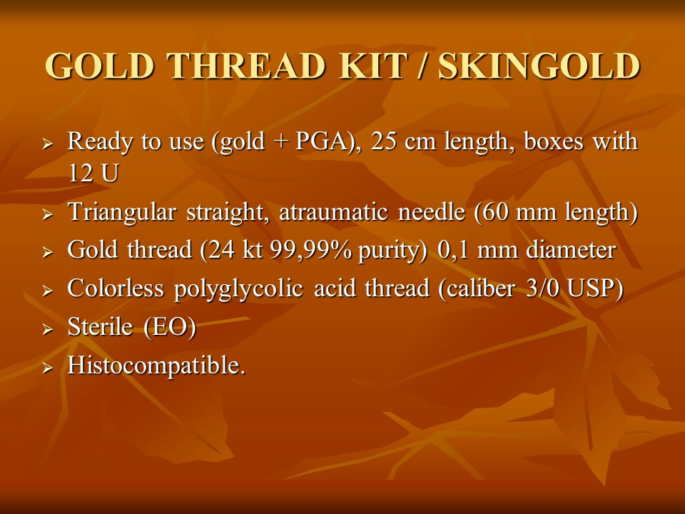 GOLD THREAD KIT / SKINGOLD