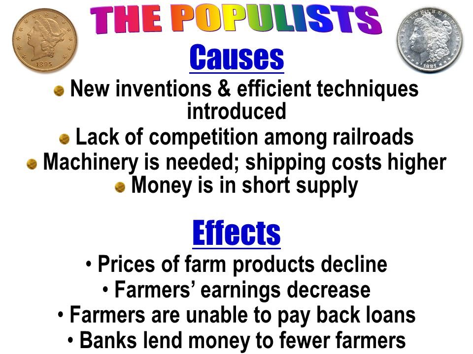 Causes Effects THE POPULISTS