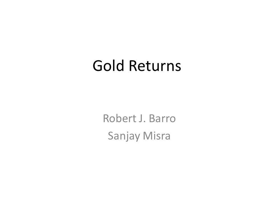 Robert J. Barro Sanjay Misra