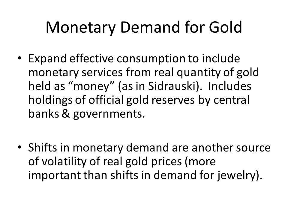 Monetary Demand for Gold
