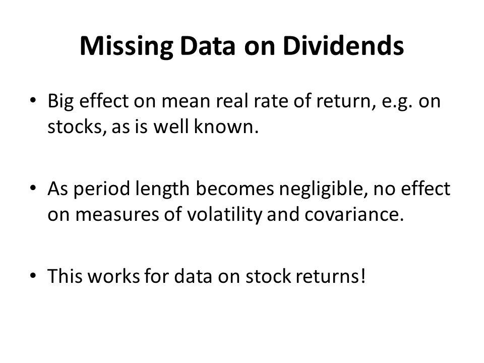 Missing Data on Dividends
