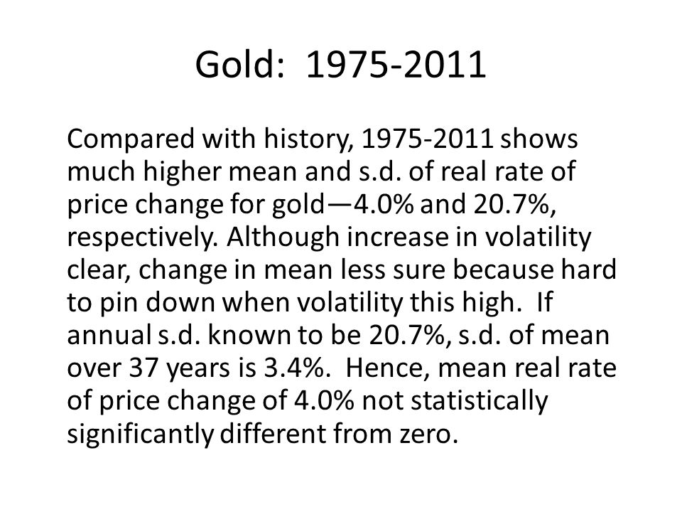 Gold: 1975-2011