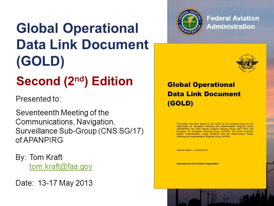Global Operational Data Link Document (GOLD)