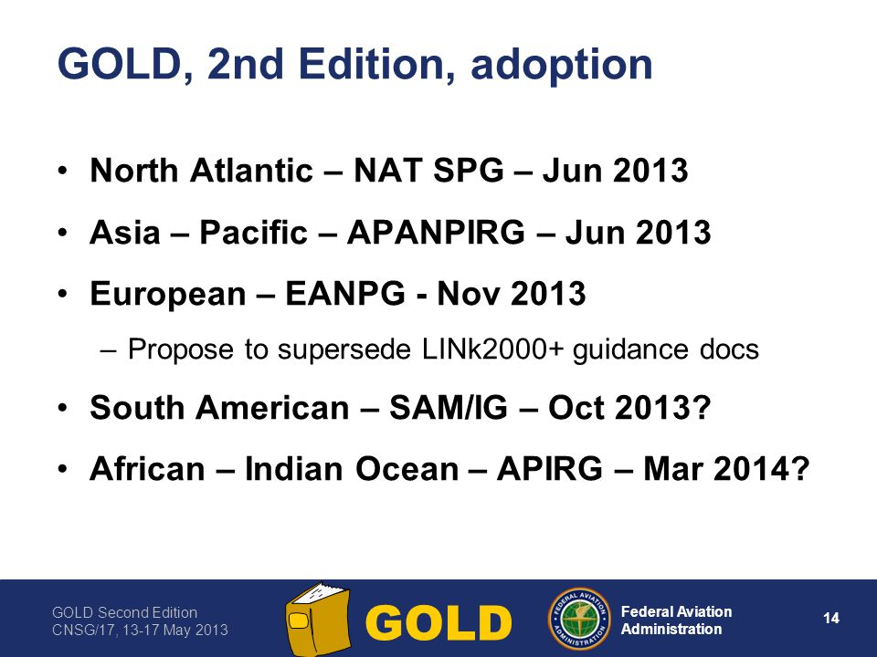 GOLD, 2nd Edition, adoption