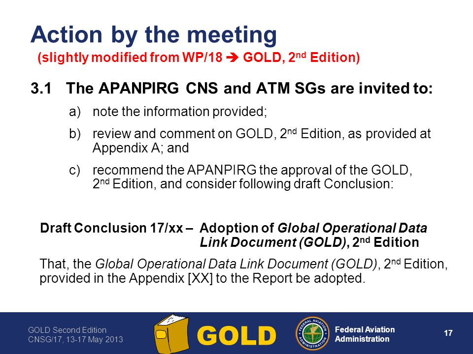 Action by the meeting 3.1 The APANPIRG CNS and ATM SGs are invited to: