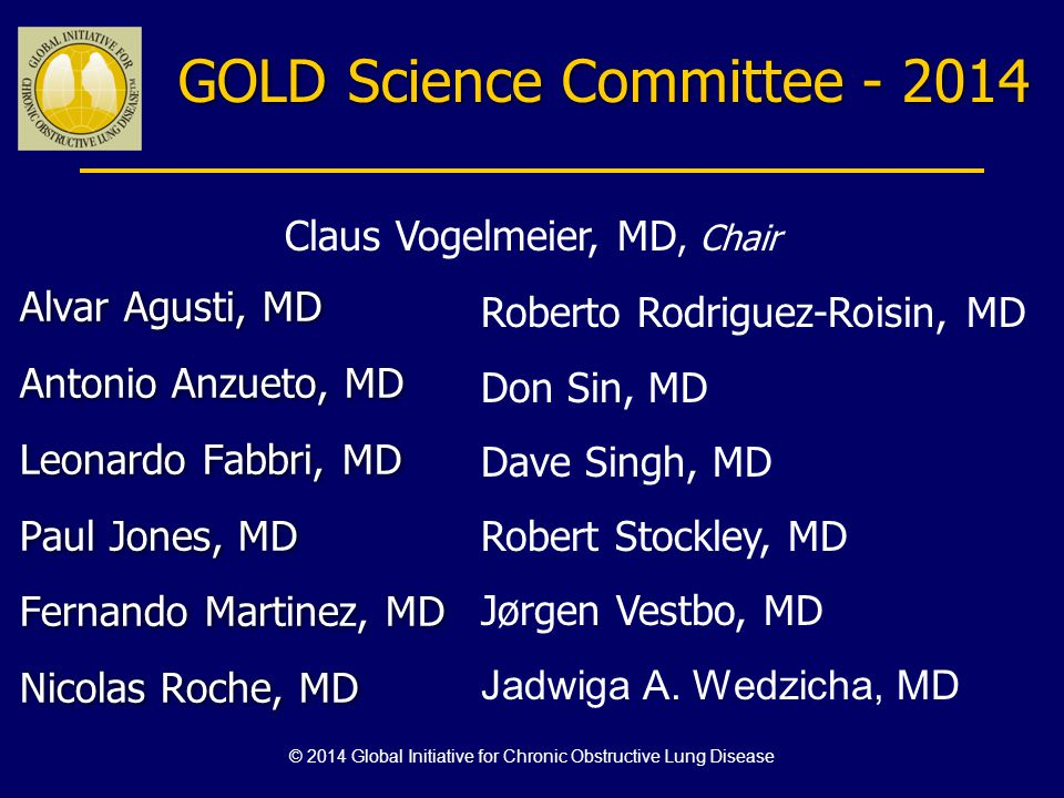 GOLD Science Committee - 2014
