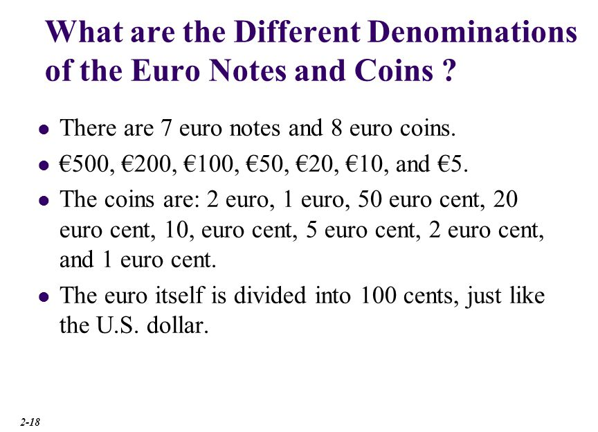 How Did the Euro Affect Contracts Denominated in National Currency