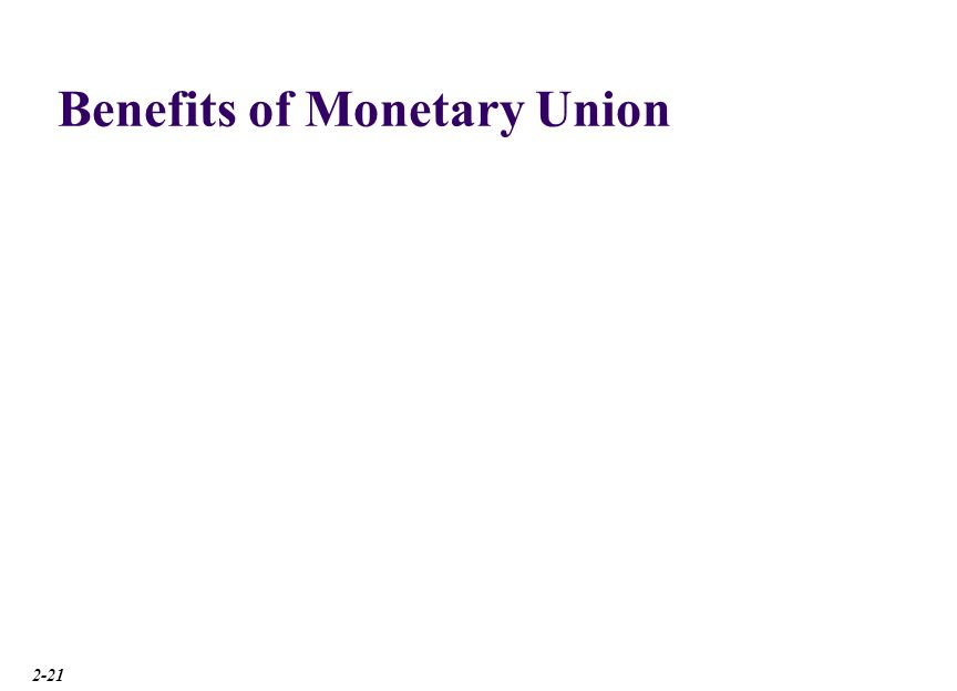 Costs of Monetary Union