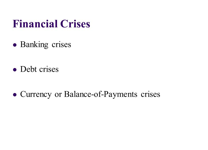 Currency Crises since 1990 The EMS crisis (1992, 93)