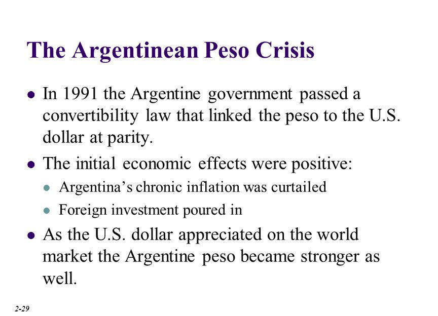 The Argentinean Peso Crisis