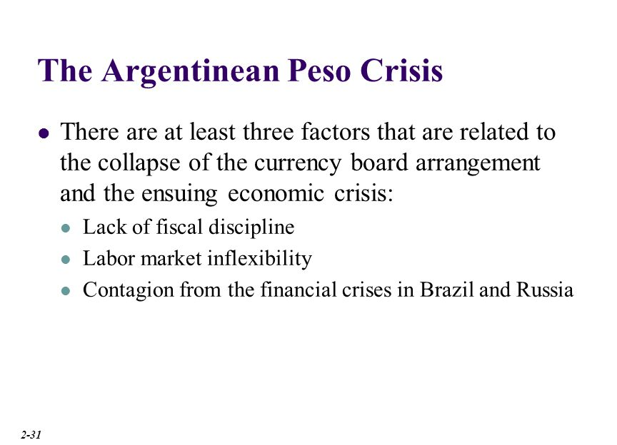 Causes of Currency Crisis