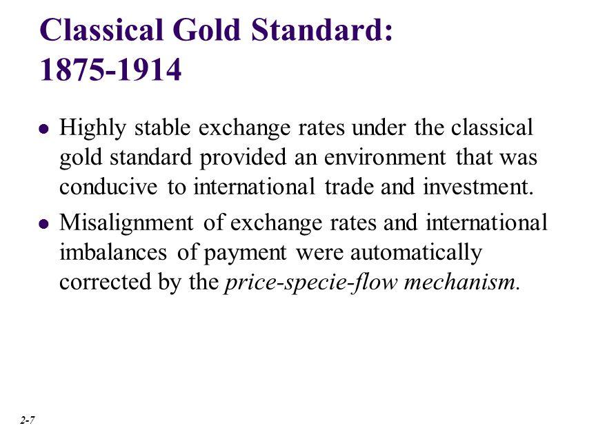 Price-Specie-Flow Mechanism