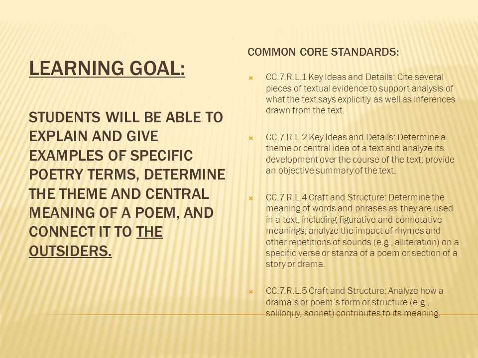Common Core Standards: