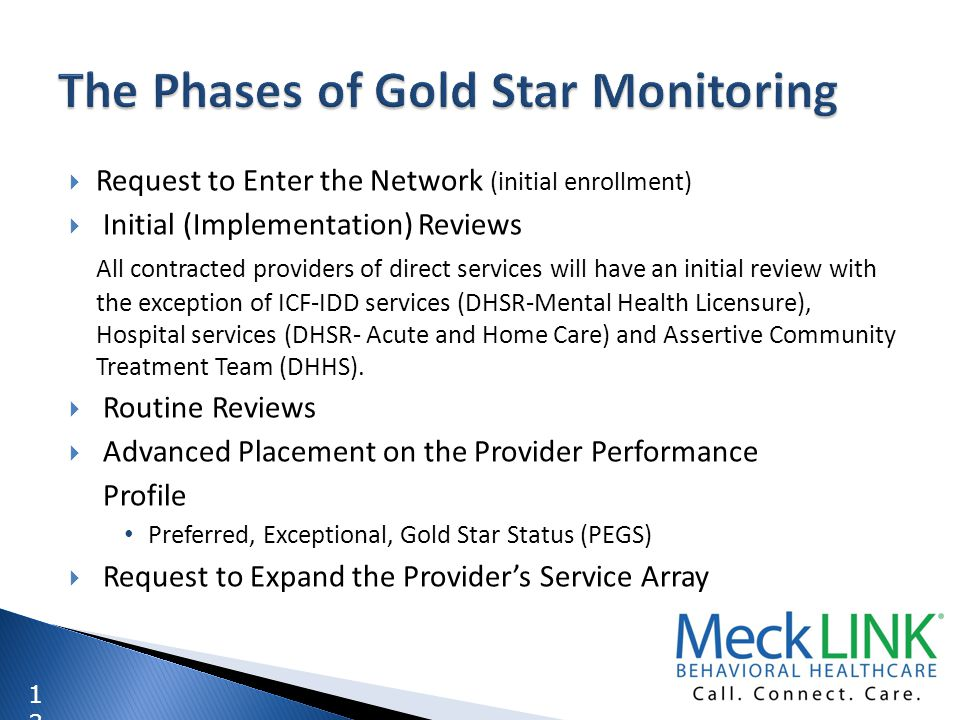 The Phases of Gold Star Monitoring