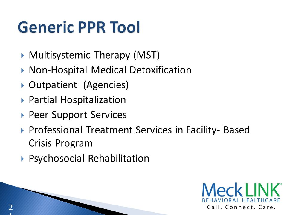 Generic PPR Tool Multisystemic Therapy (MST)