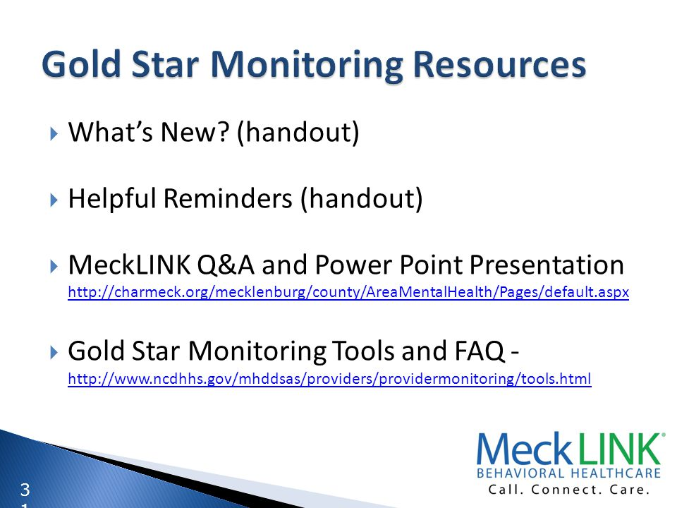 Gold Star Monitoring Resources