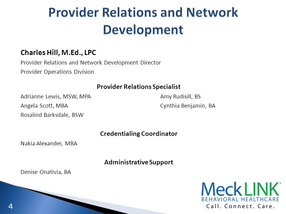 Provider Relations and Network Development
